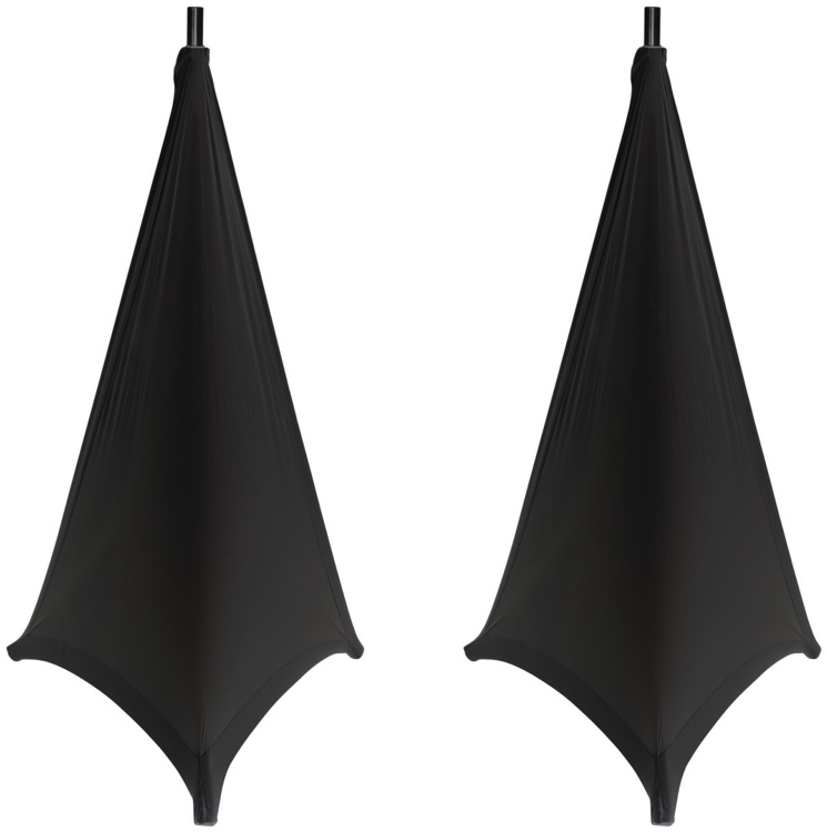 Gator GPA-Stand-2-B 2-pack - Stretchy Speaker Stand Covers (Black) image 1