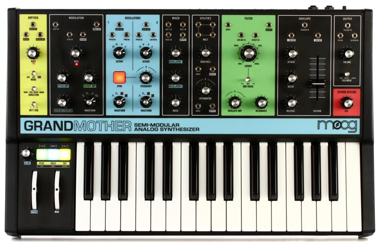 moog grandmother semi modular analog synthesizer and step sequencer sweetwater. Black Bedroom Furniture Sets. Home Design Ideas
