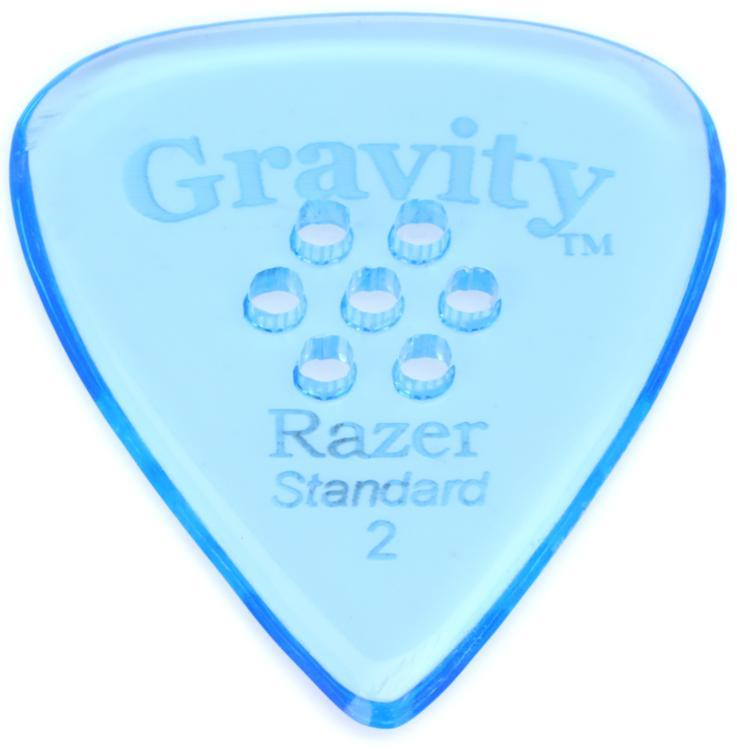 Gravity Picks Razer - Standard Size, 2mm, w/Multi-hole Grip image 1