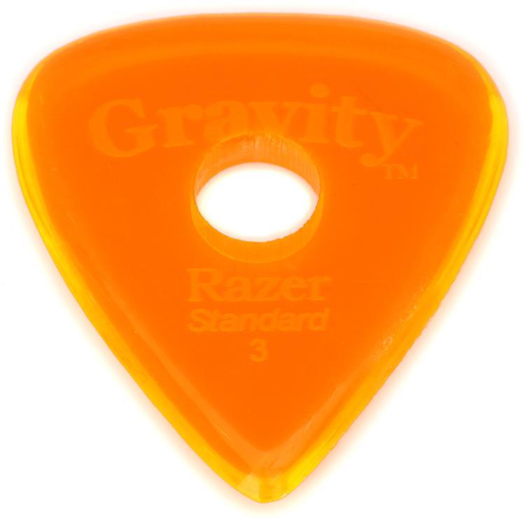 Gravity Picks Razer - Standard Size, 3mm, w/Round-hole Grip image 1