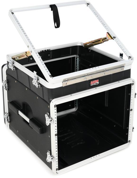 Gator GRC-10X8 PU - 10U Top, 8U Side Console Audio Rack image 1
