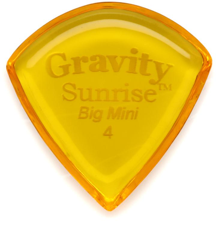 Gravity Picks Sunrise - Big Mini, 4mm, Polished image 1