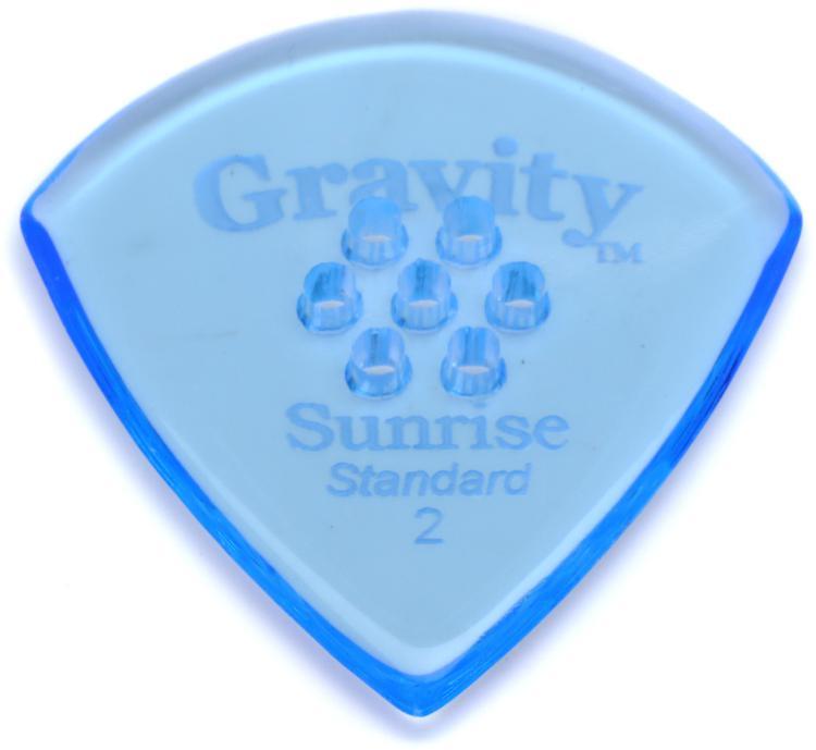 Gravity Picks Sunrise - Standard Size, 2mm, w/Multi-hole Grip image 1
