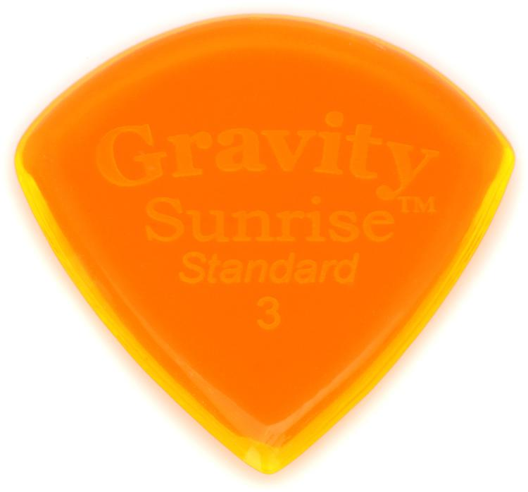 Gravity Picks Sunrise - Standard Size, 3mm, Polished image 1
