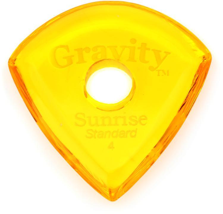 Gravity Picks Sunrise - Standard Size, 4mm, w/Round-hole Grip image 1