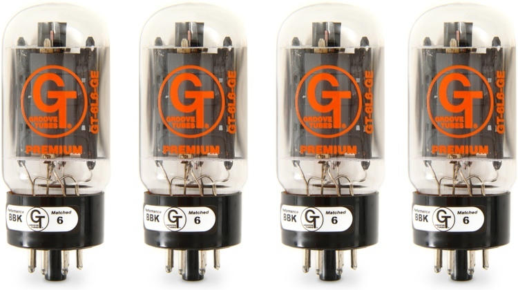 Groove Tubes GT-6L6GE General Electric Power Tubes - Medium Quartet image 1
