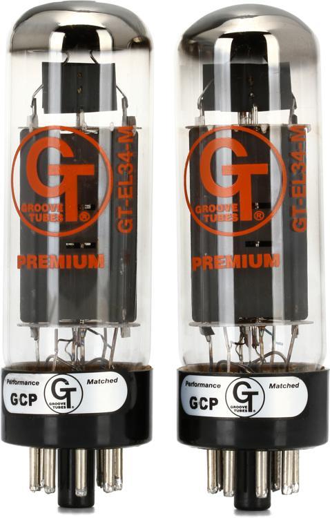 Groove Tubes GT-EL34M Mullard Power Tubes - Medium Duet image 1