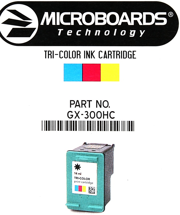 Microboards TriColor Cartridge for GX2/G3 image 1