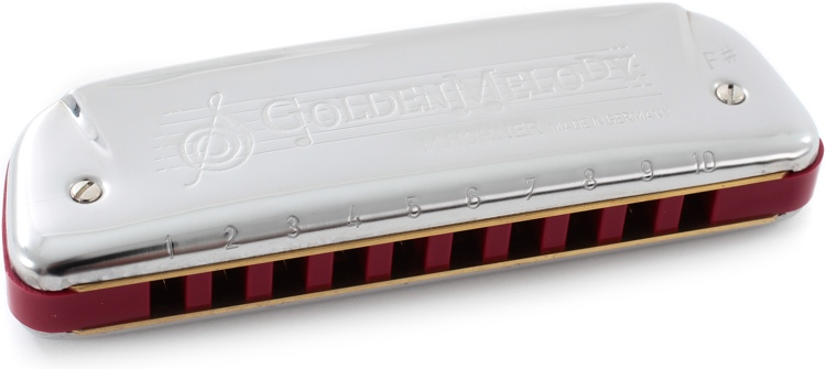 Hohner 542BX-F# Golden Melody Diatonic - Key of F Sharp image 1