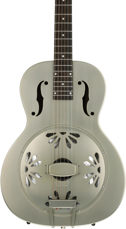 Gretsch G9201 Honey Dipper Round-neck, Brass Body Biscuit Cone Resonator - Shed Roof image 1