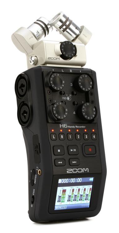zoom h6 handy recorder sweetwater. Black Bedroom Furniture Sets. Home Design Ideas