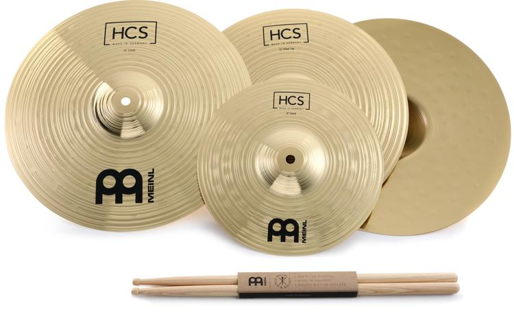 Meinl Cymbals HCS Three for Free Cymbal Set Free splash, sticks and 3 free lessons image 1