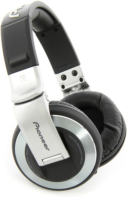 Pioneer DJ HDJ-2000 Reference DJ Headphones, Silver - Closed image 1