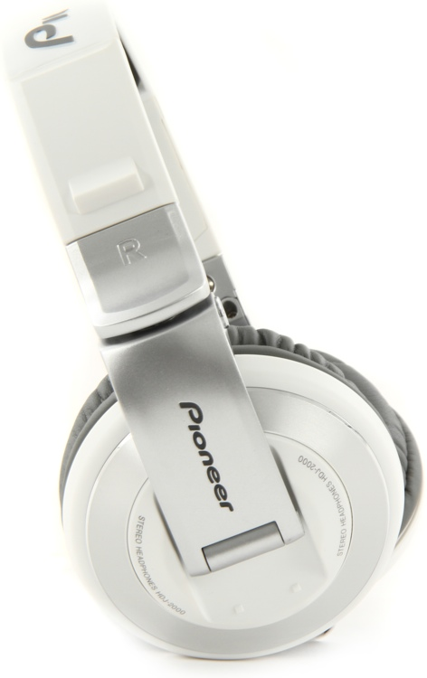 Pioneer DJ HDJ-2000 Reference DJ Headphones, Matte White - Closed image 1