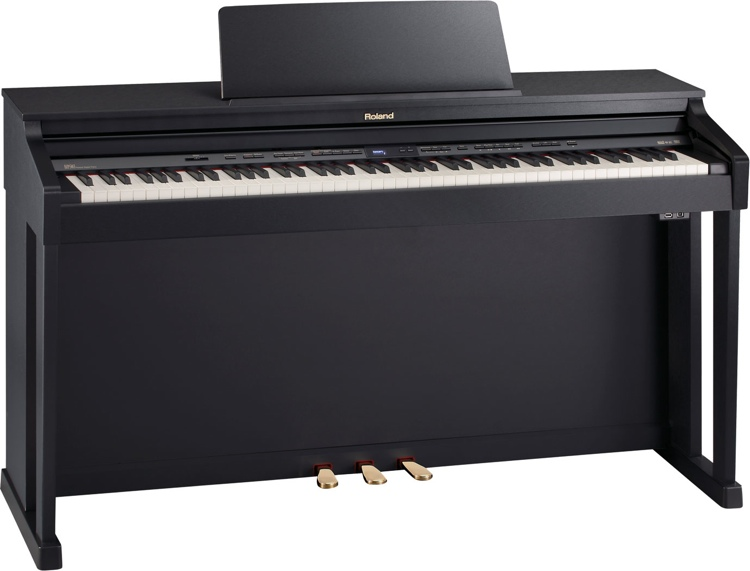 Roland HP-504 Digital Piano - Classic Black Finish image 1