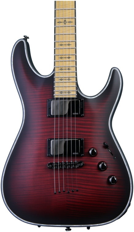 Schecter Hellraiser Extreme C-1 - Crimson Red Burst Satin, MF image 1