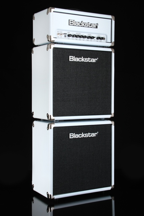 Blackstar HT-5RS Mini Stack with HT5 head and Two 1x12 Cabs - Limited - Arctic White image 1