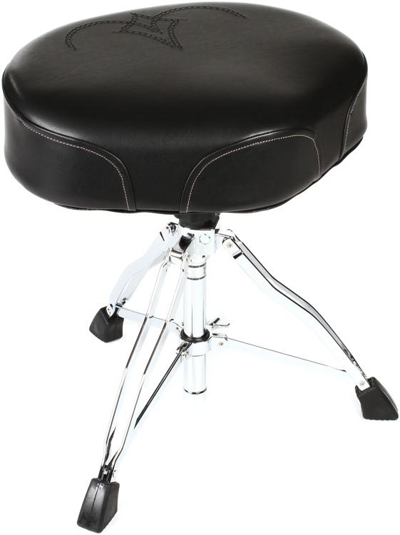 Tama 1st Chair Ergo-Rider Throne - Black/White Embroidered Logo image 1