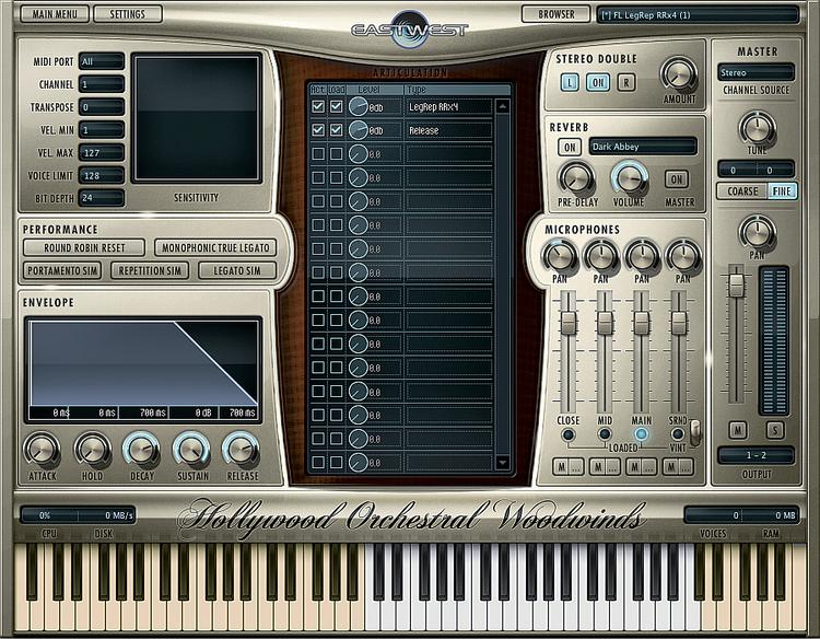 EastWest Hollywood Orchestral Woodwinds - Diamond Edition (Mac Hard Drive) image 1