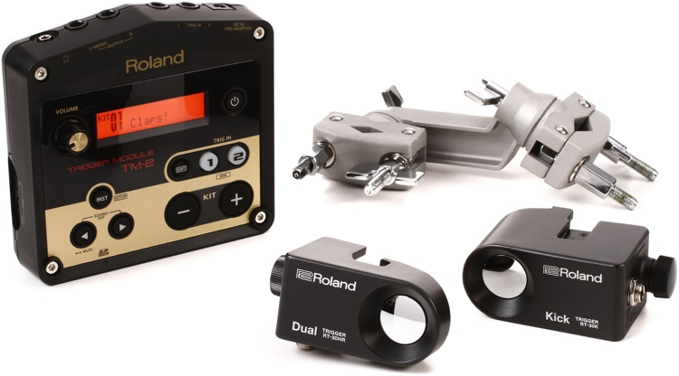 Roland Hybrid Trigger Percussion Pack - Includes RT-30K, RT-30HR, TM-2 Module & cables image 1