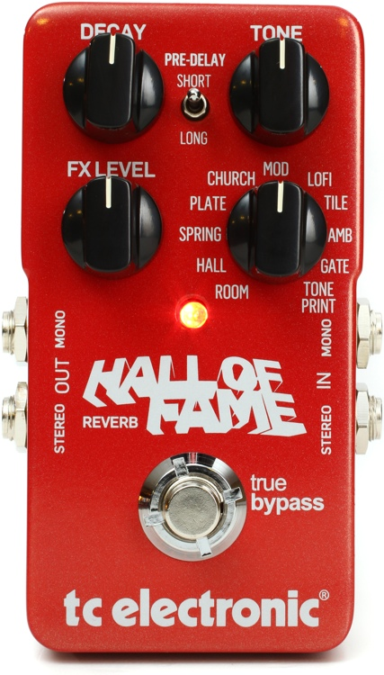 Tc Electronic Hall Of Fame Reverb Pedal Sweetwater