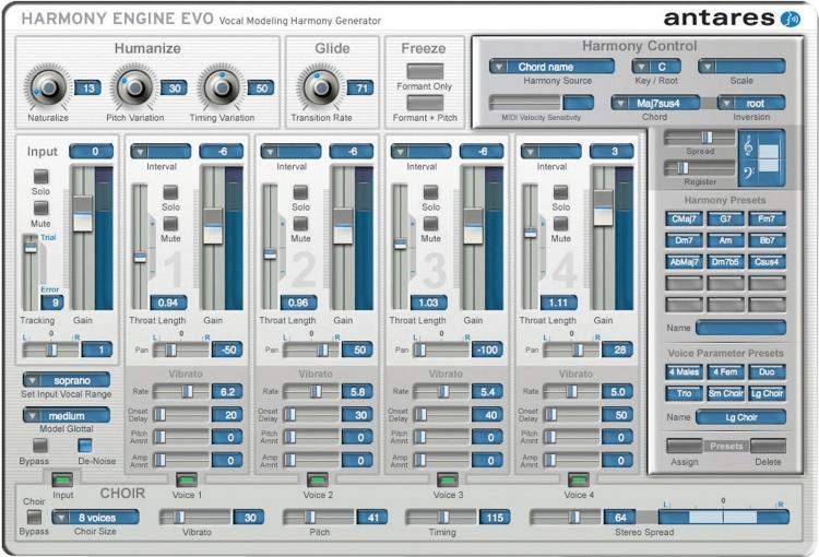 Antares Harmony Engine Evo Vocal Modeling Harmony Generator Plug-in (boxed) image 1
