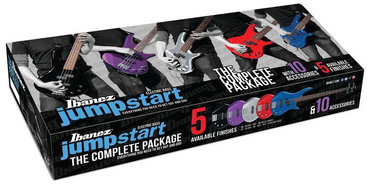 Ibanez IJXB150B Jumpstart Bass Pack - Silver image 1