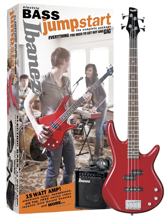 Ibanez Jumpstart Basics Bass Package - Transparent Red image 1