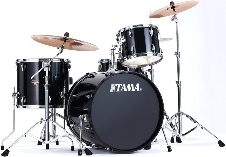 Tama Imperialstar 4-piece Drum Kit - Hairline Black image 1