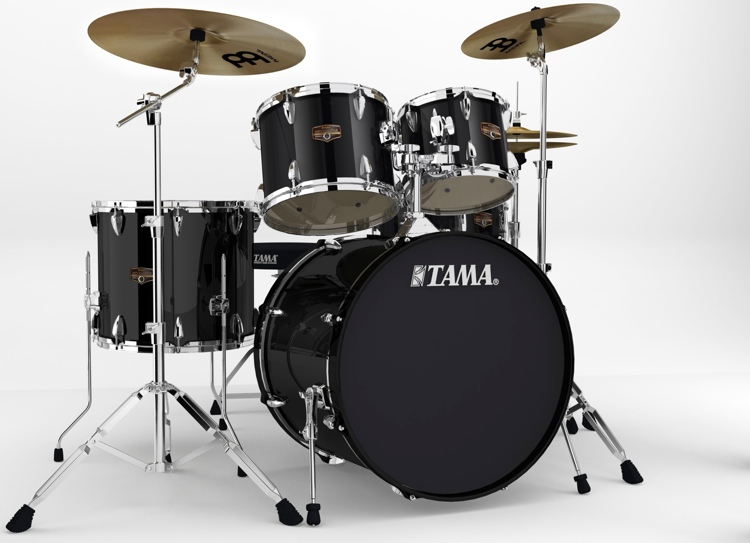 Tama Imperialstar Complete Drum Set - 5-piece, Black image 1