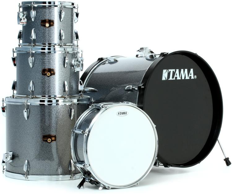 Tama Imperialstar Complete Drum Set - 5 piece - Galaxy Silver image 1