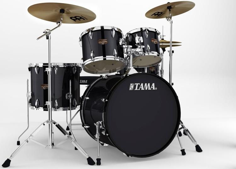 Tama Imperialstar Complete Drum Set - 5-piece - Hairline Black image 1