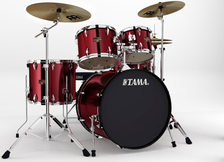 Tama Imperialstar Complete Drum Set - 5-piece - Vintage Red image 1