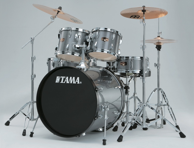 tama imperialstar complete drum setimperialstar complete drum set 6 piece galaxy silver. Black Bedroom Furniture Sets. Home Design Ideas