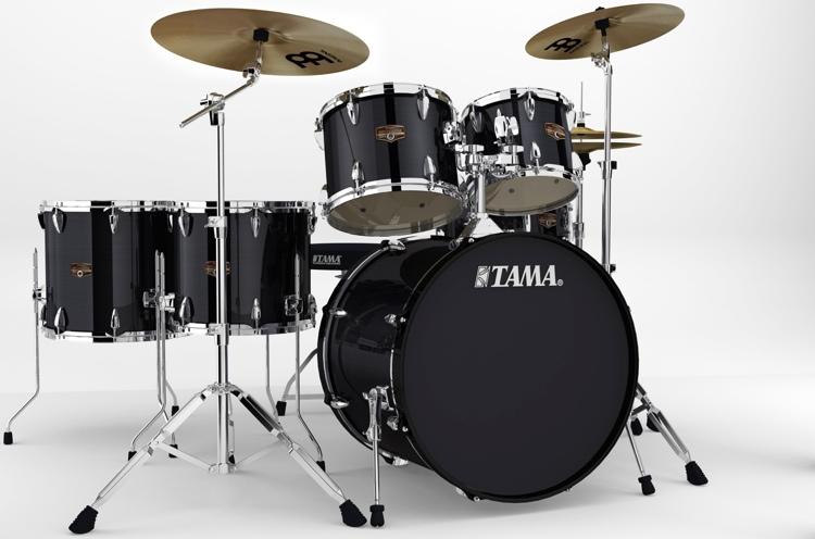tama imperialstar complete drum setimperialstar complete drum set 6 piece hairline black. Black Bedroom Furniture Sets. Home Design Ideas
