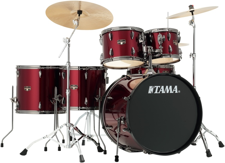 Tama Imperialstar Complete Drum Set - 6-piece - Vintage Red with Black Nickel Hardware image 1