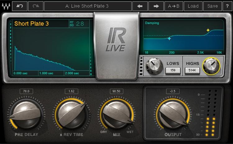 Waves IR-Live Convolution Reverb Plug-in image 1