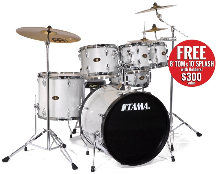 Tama Imperialstar 5 Pc - Hairline White Silver, 22