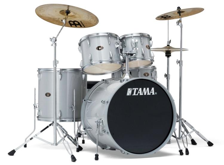 Tama Imperialstar - Hairline White Silver LTD image 1