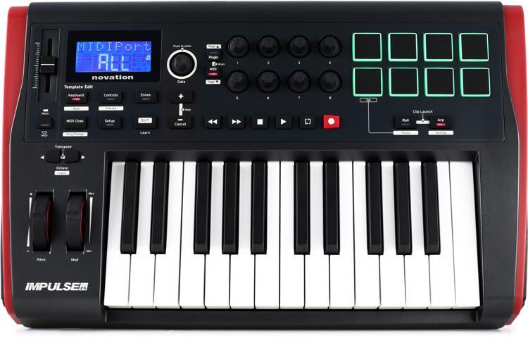 Novation Impulse 25 Keyboard Controller image 1
