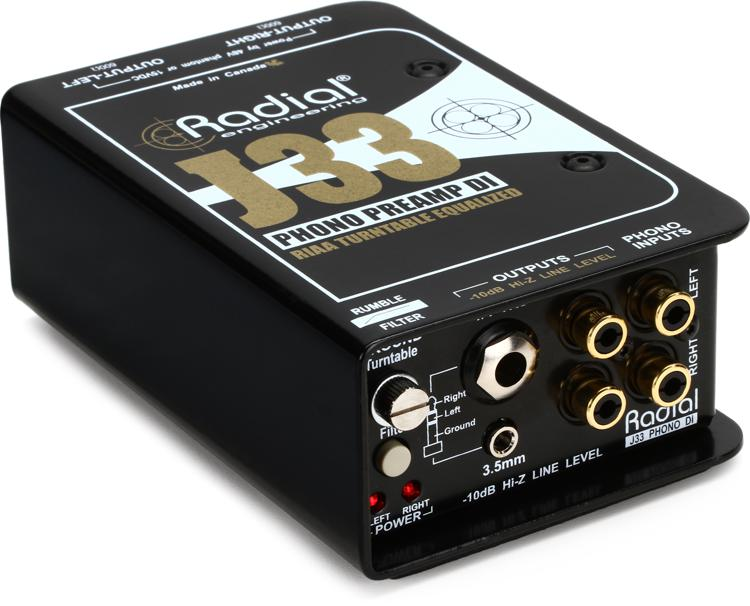 Radial J33 2-channel Active Turntable Preamp/Direct Box image 1