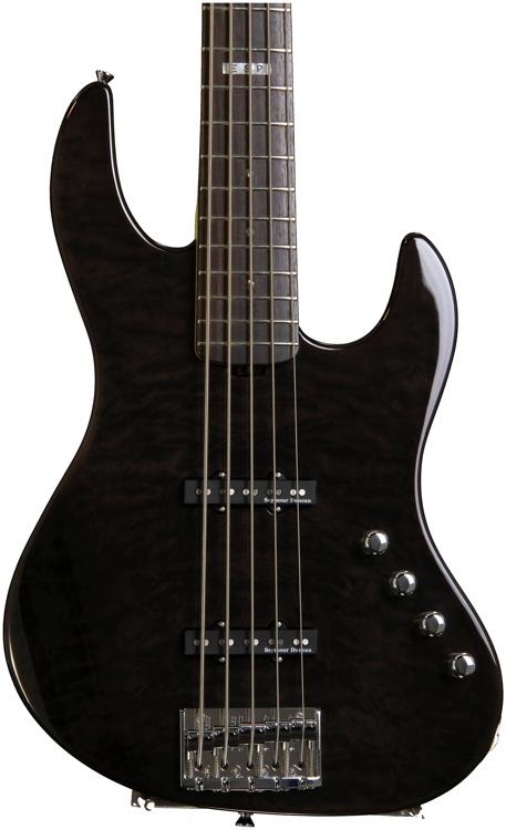 ESP E-II J5 QM Bass - See Thru Black image 1