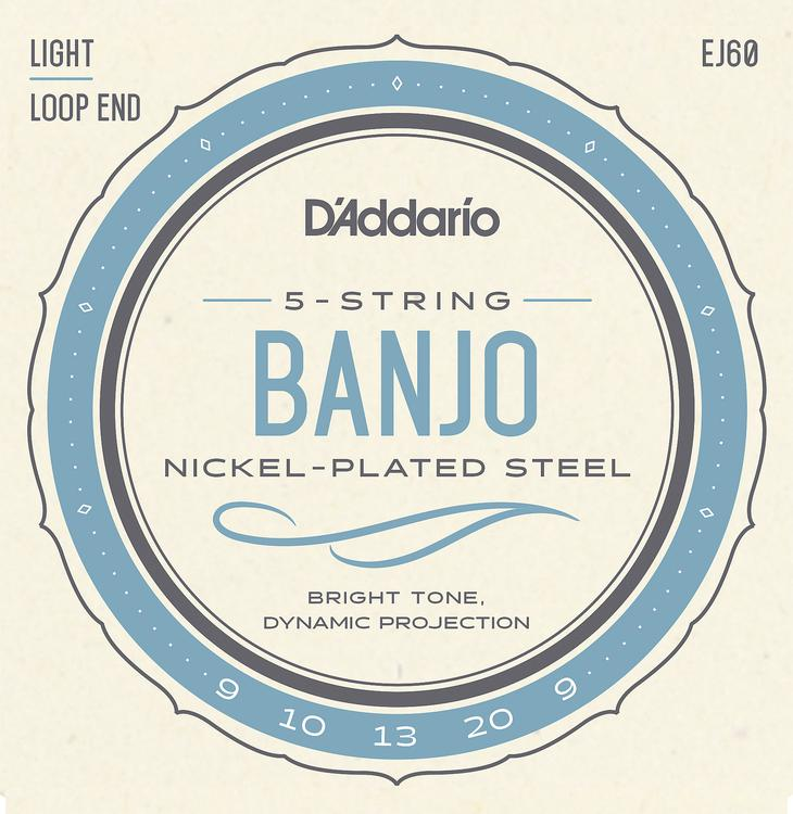 D\'Addario J60 Nickel Wound Banjo Strings - .009-.020 Light 5-Str image 1