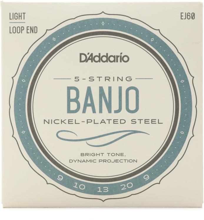 D\'Addario J60 Nickel Wound Banjo Strings - .009-.020 Light 5-Str image 1