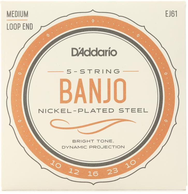 D\'Addario EJ61 Nickel Wound Banjo Strings - .010-.023 Medium 5-Str image 1
