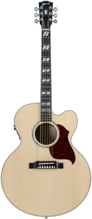 Gibson Acoustic J-185 EC Blues King Electro - Antique Natural Nickel HW image 1