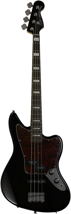 Squier Vintage Modified Jaguar Bass - Black image 1
