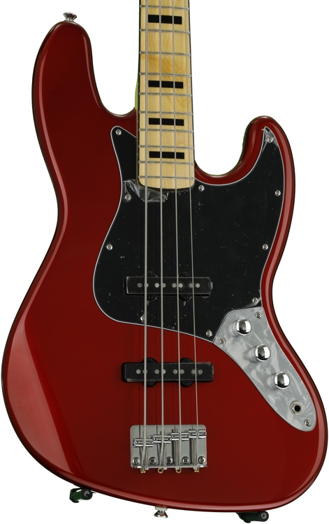 Squier Vintage Modified Jazz Bass \'70s - Candy Apple Red image 1