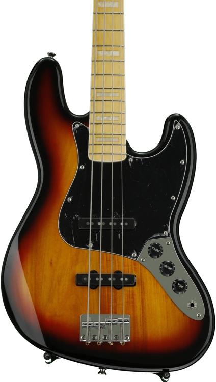 Squier \'77 Vintage Modified Jazz Bass - 3 Tone Sunburst image 1