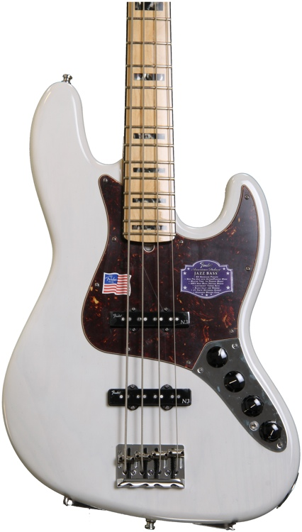 Fender American Deluxe Jazz Bass - White Blonde image 1